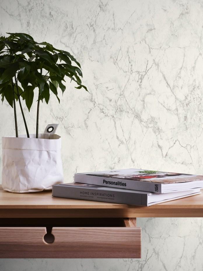 Vinyl wallpaper imitation gray Marble material