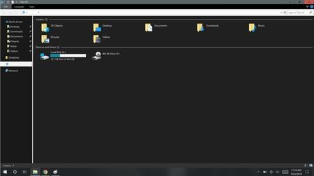 Dark File Explorer Problem Windows diez 1809