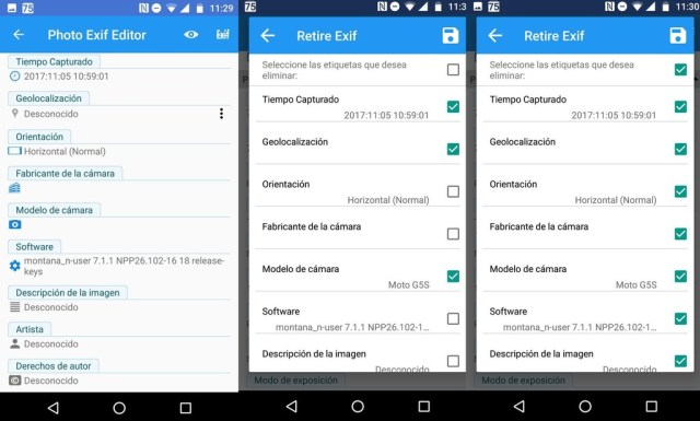 Eliminar Exif Android