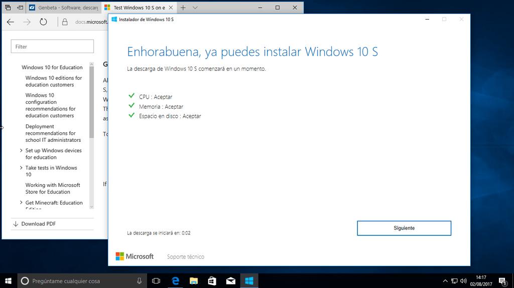 Instalar Windows 10 S 1