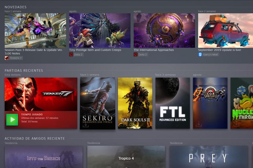 Ya está aquí la nueva biblioteca de Steam en fase de beta abierta y te contamos cómo activarla