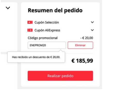 185.99 euros with free shipping from Spain