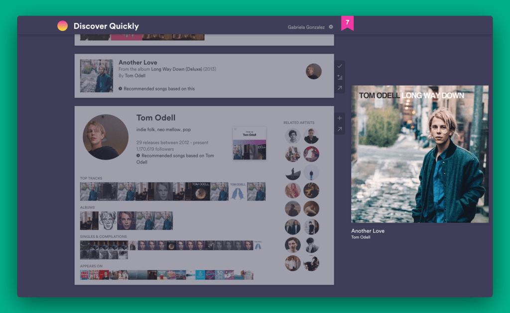 Discover Quickly, la nueva y adictiva herramienta de Spotify para descubrir música rápido y de forma visual