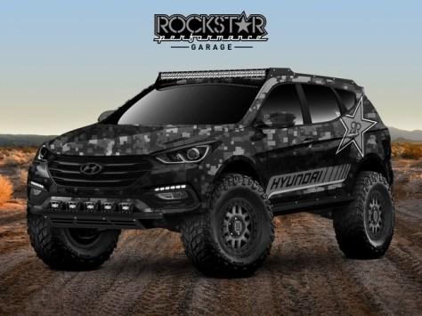 Este Santa Fe Sport Concept para el SEMA es un salvaje todoterreno listo para el desierto del Moab