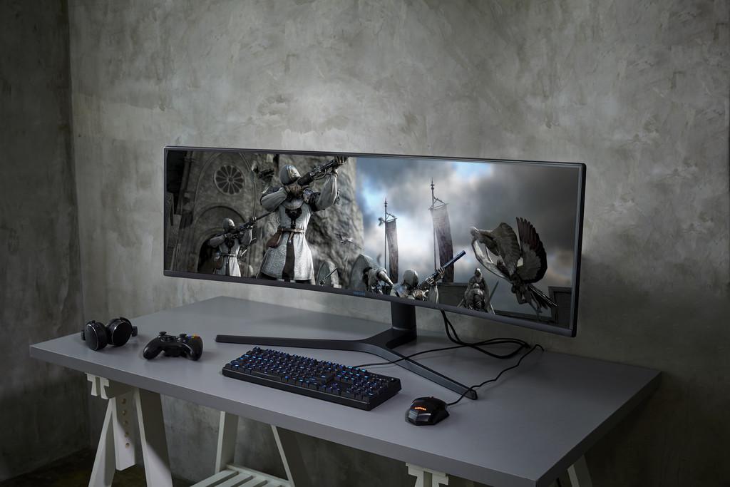 El nuevo monitor gaming de 49 pulgadas de Samsung no parece real