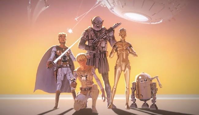Permalink to Este tráiler nos muestra como luciría 'Star Wars' si se hubiese respetado el arte conceptual original de 1975