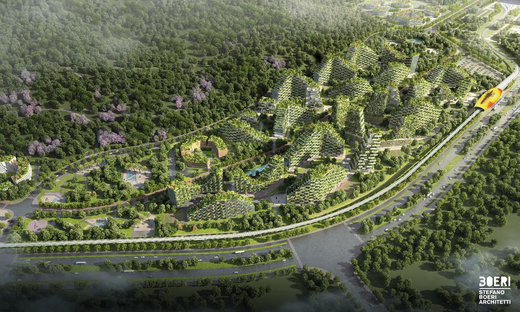 Stefano Boeri Architetti Liuzhou Forest City View cuatro Copy