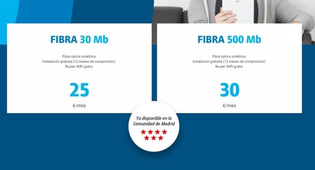 Digi te lleva la fibra a casa: 500 MB simétricos por solo 30 euros(EUR) al mes(30dias)