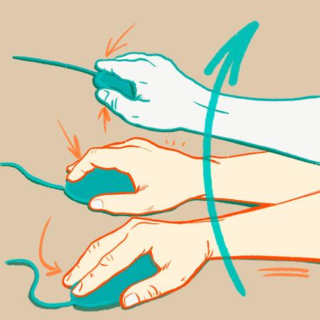 Ilustracion Movimiento De Muneca Raton Carlos Castano Fisioperpinya
