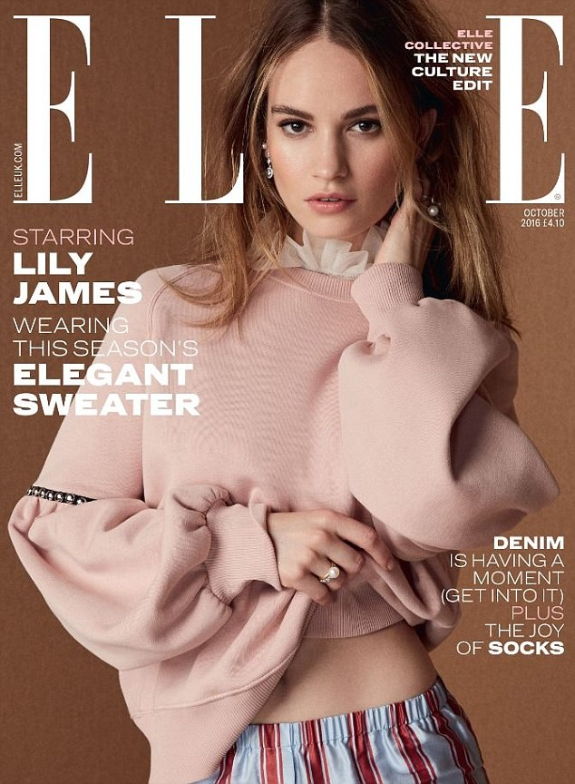 Elle UK: Lily James