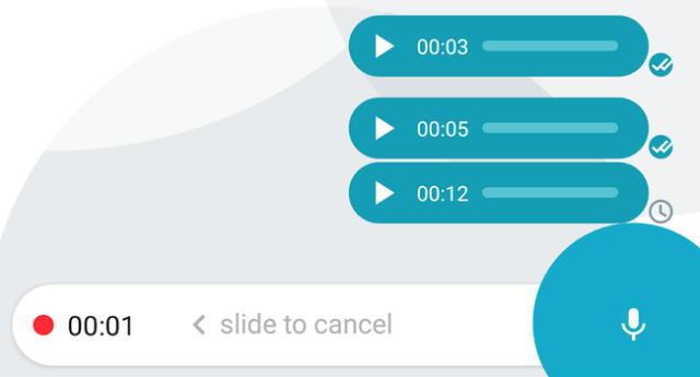 Mensajes de voz en las aplicaciones de mensajería