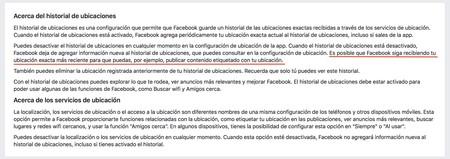 Localizacion Facebook