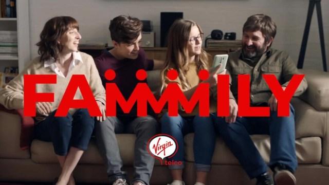 Virgin telco Family, nuevo combinado de fibra y terminal por 45 euros(EUR) y líneas adicionales con 50 GB por 6 euros