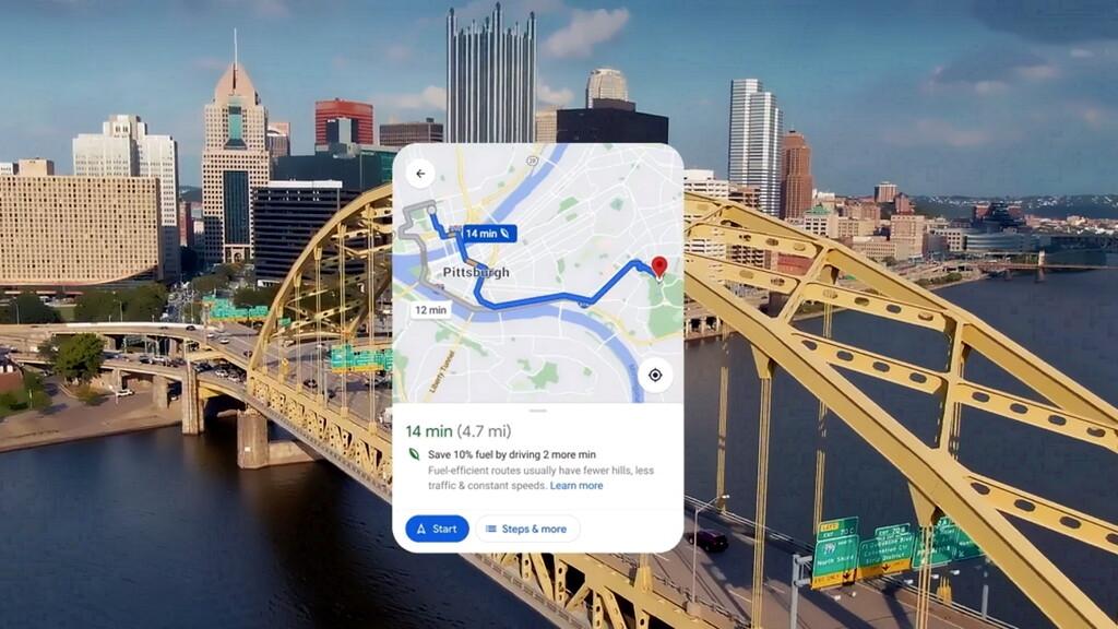 Google Maps nos recomendará por defecto la ruta más ecológica (no la más rápida) a partir de 2022