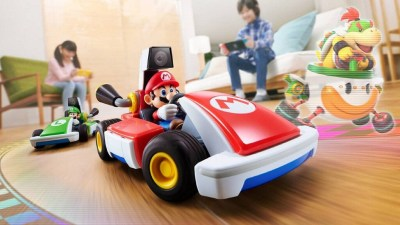 This video compares the four speeds of the Mario Kart Live: Home Circuit car, and the 200cc makes me fear for my furniture