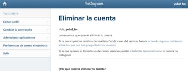 Cómo borrar o eliminar una cuenta de Instagram para siempre