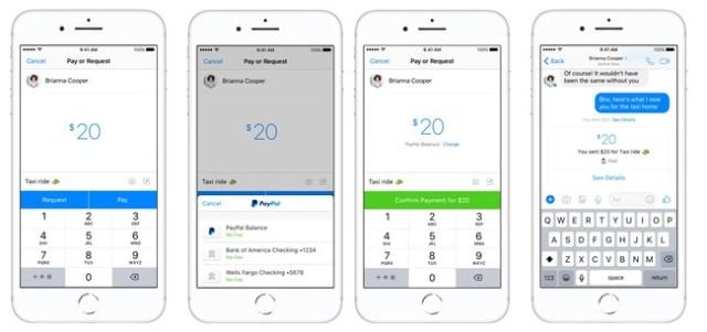 Dinero a través de Messenger℗ y Paypal
