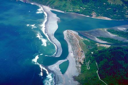 Klamath River Mouth Aerial View