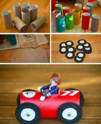 Resultado de imagen para coches tubos del papel higiénico