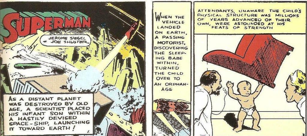 Action Comics Origen Superman