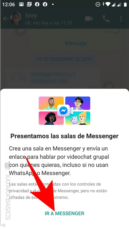 How to start video calls of up to 50 people from WhatsApp with Messenger Rooms
