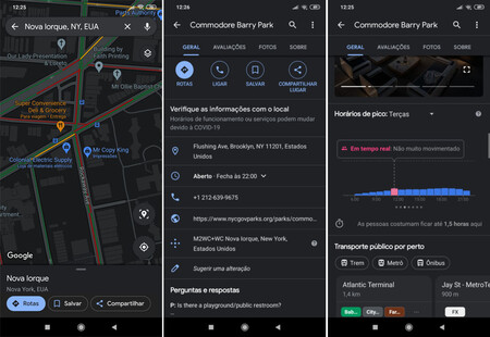 Google Maps Android Tema Oscuro