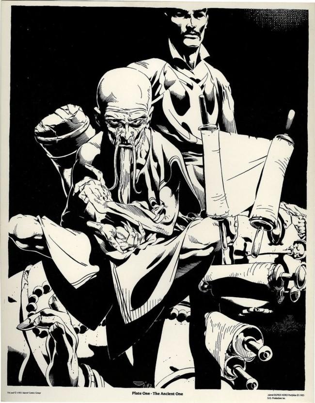 Una ilustración del Anciano y Dr. Extraño