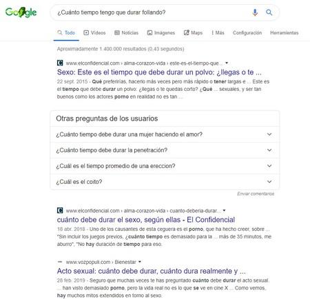 Duracion Sexo Pagina 1 Google