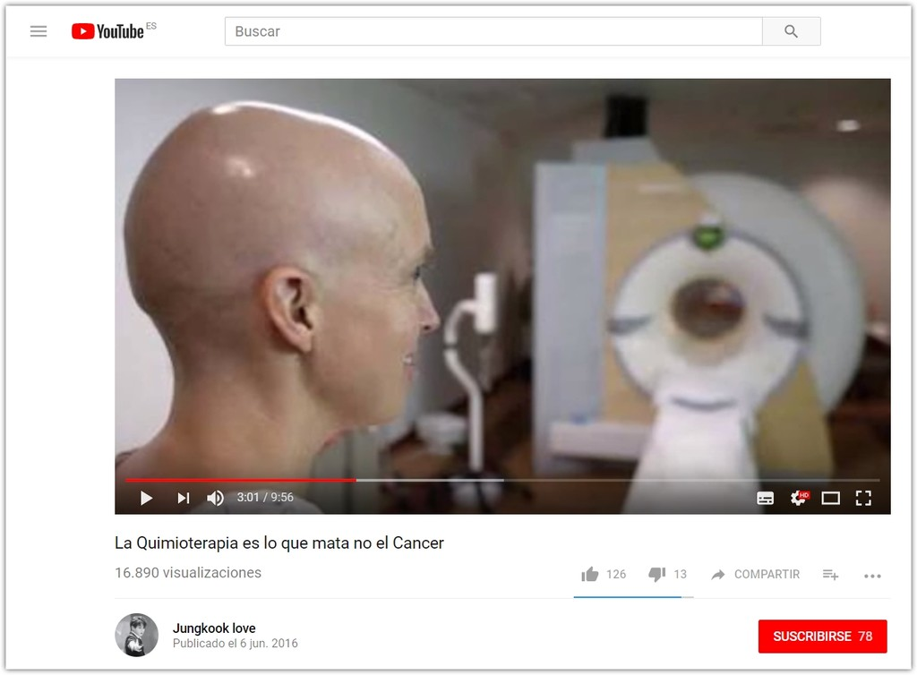 La Quimioterapia Es Lo Que Mata No El Cancer Youtube® Google® Chrome® 2018 01 31 16 33 46
