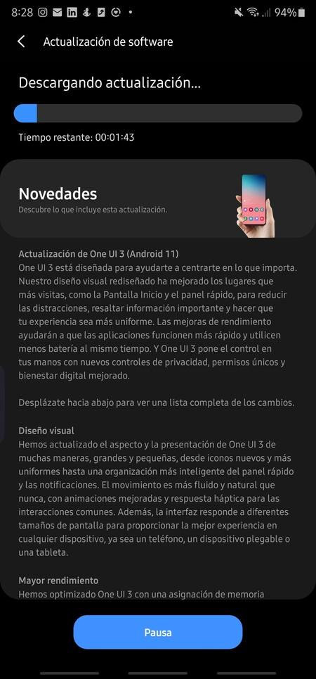 Das Samsung Galaxy Note 20 Ultra wurde in Spanien auf stabiles Android 11 aktualisiert