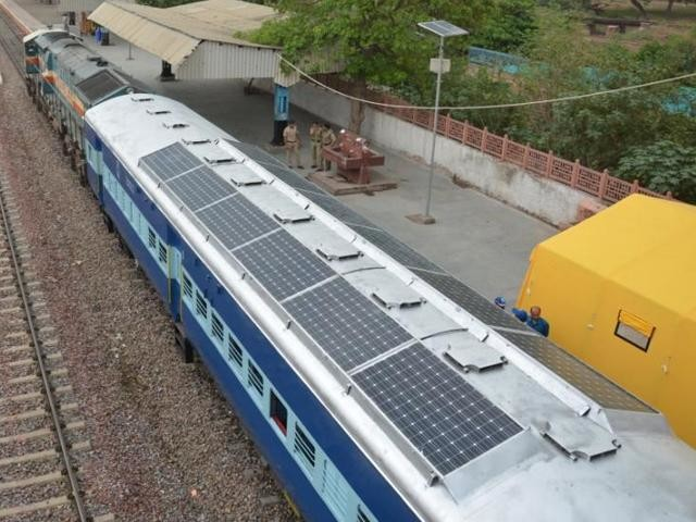 Solar Powered Trains