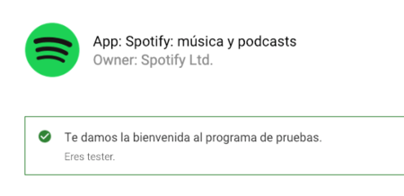 Beta Testers de Spotify® en Android