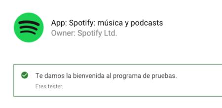 Beta Testers de Spotify® en Android