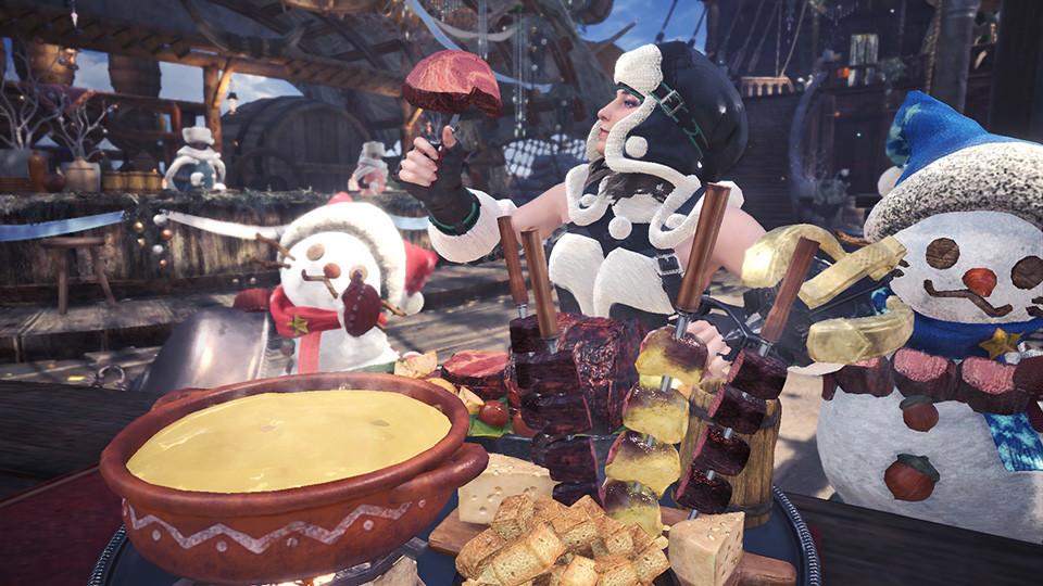 Monster Hunter World ya celebra su evento de navidad: así es el festival estrella de invierno