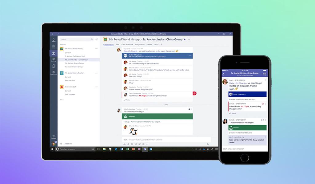 Permalink to Microsoft lanza una versión gratuita Teams que compite directamente con Slack