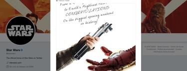 Star Wars felicitando a Avengers y otras seis divertidas notas de felicitación: una larga tradición de muestras de compañerismo