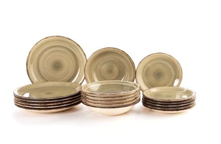 Quid Complete Modern Porcelain Dinnerware For 6 People 18 Deep Plates Dessert Plates Stoneware Gray Pearl Vita