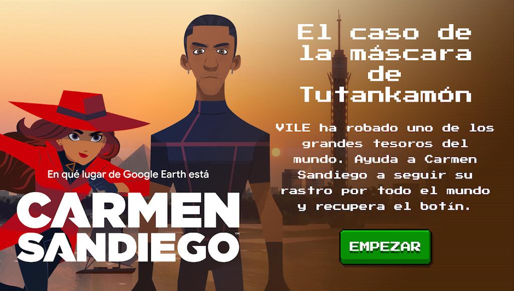 Carmen Sandiego estrena nuevo minijuego en Google® Earth: 'El caso de la máscara de Tutankamón'