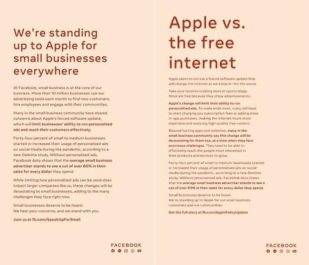 Facebook Apple Anuncio