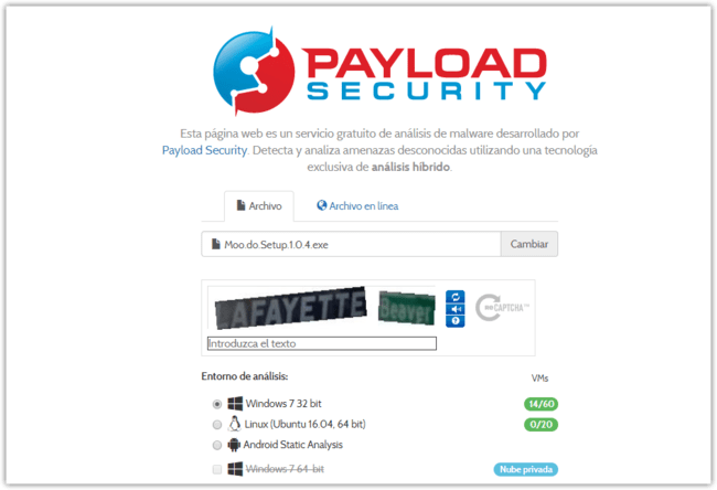 Servicio Gratuito Automatizado De Analisis De Malware Con Tecnologia De Vxstream Sandbox