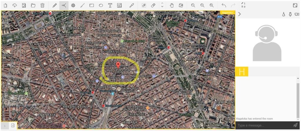 Draw Chat Dibujar Sobre Mapa