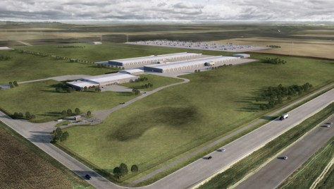 Iowa Datacenter Us Aerial View