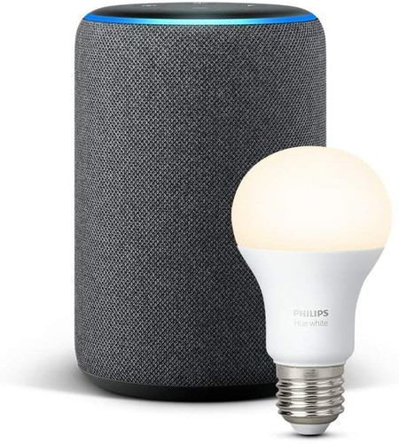 The Echo Plus is lowered to its historical minimum price on Amazon for 84.99 euros and with a Philips Hue bulb as a gift