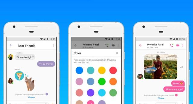 Messenger Lite añade GIF animados, envío de registros y personalización de los chats con color y emojis