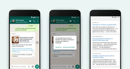 """WhatsApp activates a new function to """"verify"""" messages forwarded through the browser"""