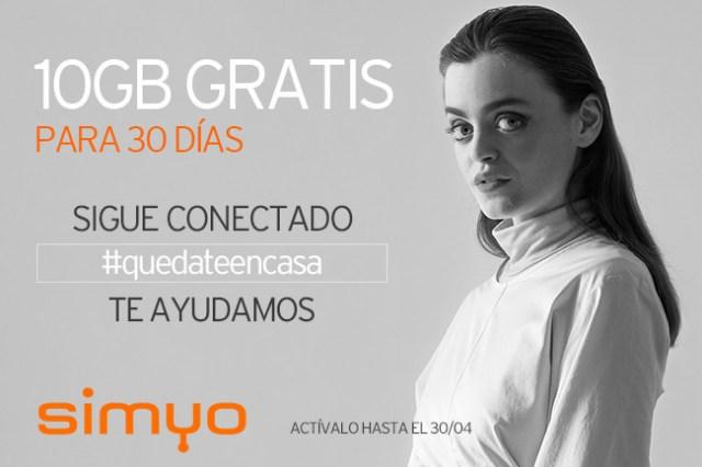 Simyo regala 10 GB válidos durante 30 dias para hacer más llevaderos los estragos provocados por el coronavirus