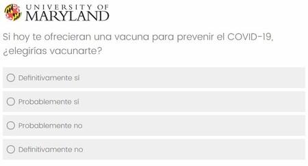 Pregunta Encuesta Facebook Covid