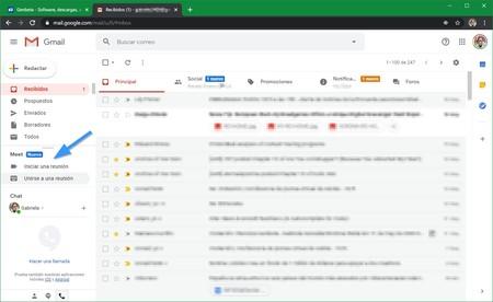 Llamadas Meet Gmail