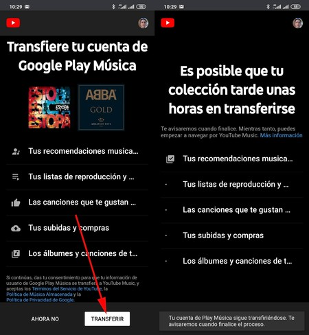Transférer Play Music Youtube Music
