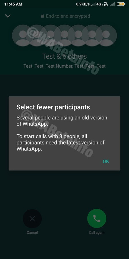 WhatsApp already allows calls and video calls of up to eight people in the beta for Android and iOS